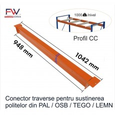Conector sustinere PAL 1000kg/nivel