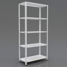 Raft arhivare solid, asamblare cu suruburi-piulite, H:200 cm, 5 polite 31x93 cm