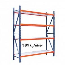 Raft depozitare Profi cu polite metalice H:250xL:210xl:80 cm (Polite din tabla de 1,0 mm)