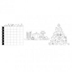 """Set 3 sabloane A2 """"Food chart"""" pentru geamuri/vitrine (marker inclus)"""