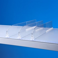 Separator plexiglas reglabil pentru rafturi