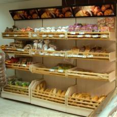 Raft paine din PAL pentru magazine alimentare 100*50*225 cm