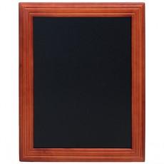 Tabla de scris pentru perete cu rama din lemn mahon