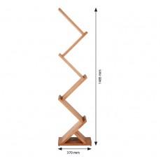 Stand din lemn pentru borosuri & pliante, forma zig-zag