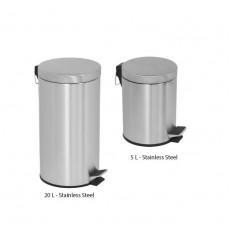 Coș de gunoi din inox cu pedală, 5 sau 20 L
