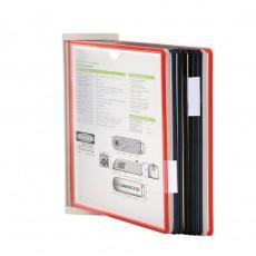 Display de Prezentare de perete, Cadru din plastic, 10 buzunare cu rama A4 incluse, 20 de pagini de afisare