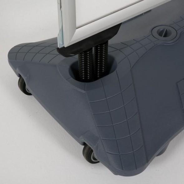 Stand exterior/Panou stradal A1  cu rezervor de apa, Rama click 33 mm, Impermeabil, rezistent la vant, doua fete de expunere cu folii anti reflex si protectie UV