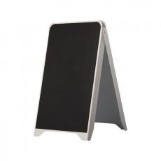 Panou stradal din PVC, 2 fete cu tabla de scris 50x88 cm